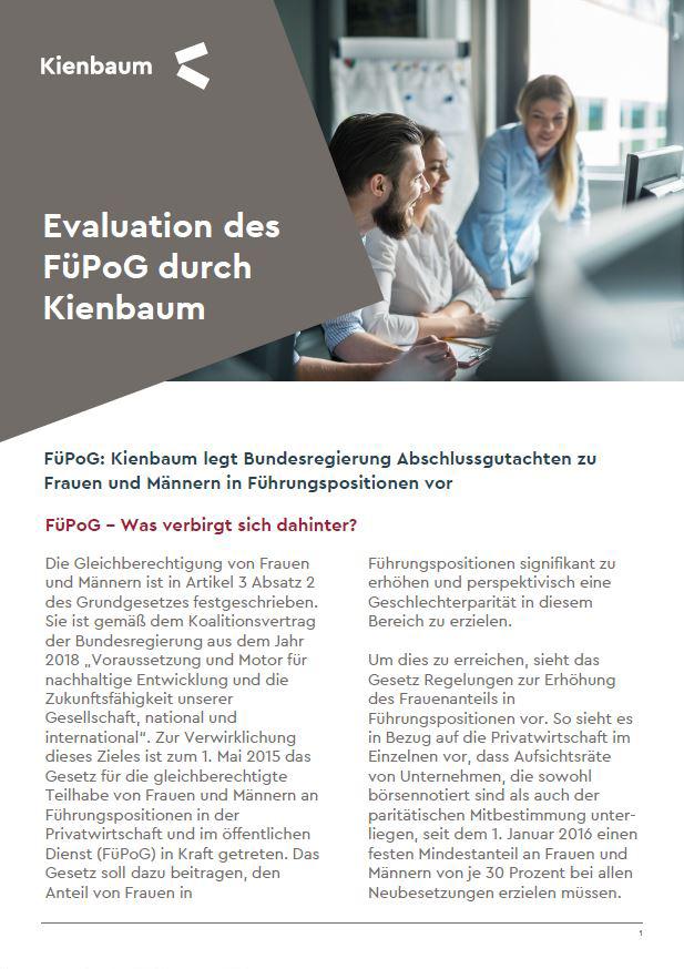 Evaluation des FüPoG durch Kienbaum